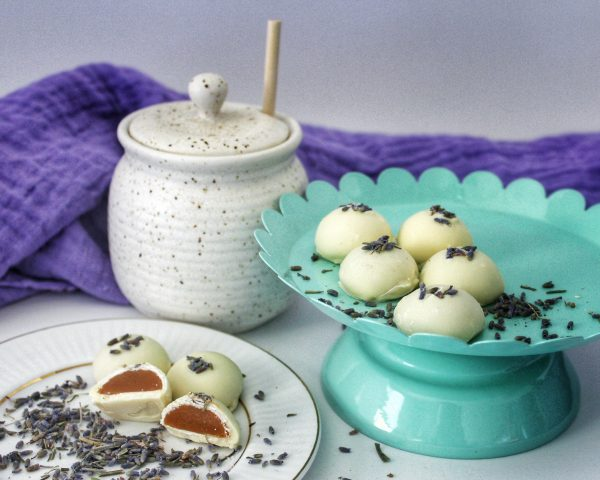 White Chocolate Lavender Caramels
